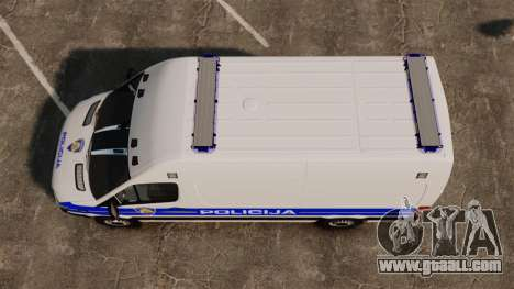 Mercedes-Benz Sprinter Croatian Police v2 [ELS] for GTA 4 right view
