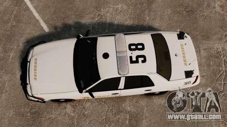GTA V sheriff car [ELS] for GTA 4 right view