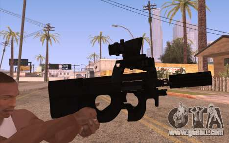 P90 AEG with flashlight for GTA San Andreas