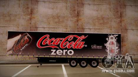 Sider Semi-trailer Coca-cola Zero for GTA San Andreas