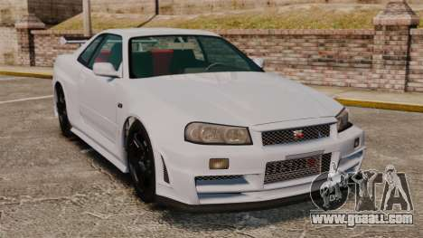 Nissan Skyline R34 GT-R NISMO Z-tune for GTA 4