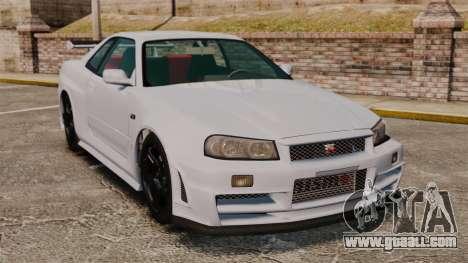 Nissan Skyline R34 GT-R NISMO Z-tune for GTA 4