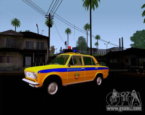 VAZ 21011 Police for GTA San Andreas back view