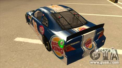 Toyota Camry NASCAR No. 93 Burger King Dr Pepper for GTA San Andreas back view