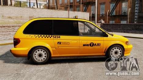 Dodge Grand Caravan 2005 Taxi NYC for GTA 4 left view