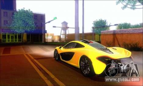 McLaren P1 EPM for GTA San Andreas back view