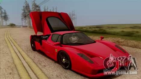 Ferrari Enzo 2002 for GTA San Andreas upper view
