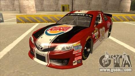Toyota Camry NASCAR No. 83 Burger King Dr Pepper for GTA San Andreas
