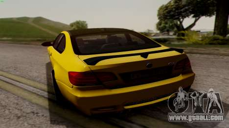 BMW M3 E92 Hamann for GTA San Andreas right view