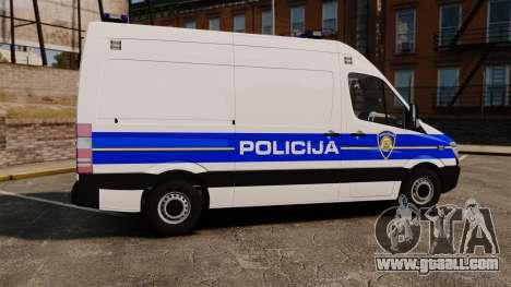Mercedes-Benz Sprinter Croatian Police v2 [ELS] for GTA 4 left view