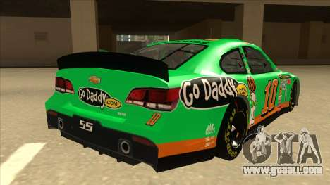 Chevrolet SS NASCAR No. 10 Go Daddy for GTA San Andreas right view