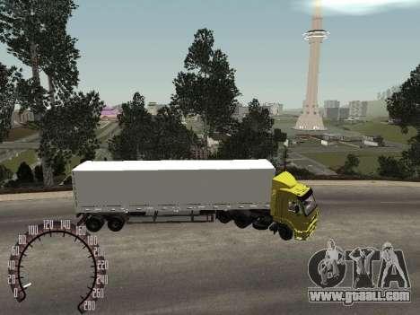 Nefaz 93344 snow trailer for GTA San Andreas left view
