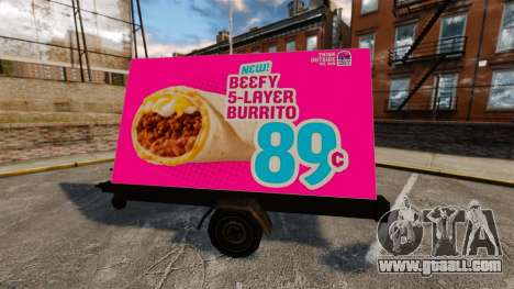 The new advertising on wheels for GTA 4 third screenshot