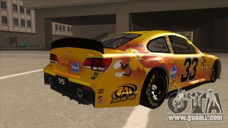 Chevrolet SS NASCAR No. 33 Cheerios for GTA San Andreas right view