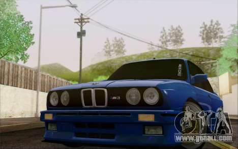 BMW M3 E30 Stance for GTA San Andreas back left view