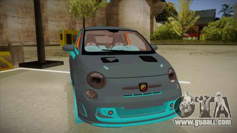 Abarth 500 Esseesse 2010 for GTA San Andreas left view