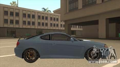 Hyundai Coupe V6 Soft Tuned v1 for GTA San Andreas back left view