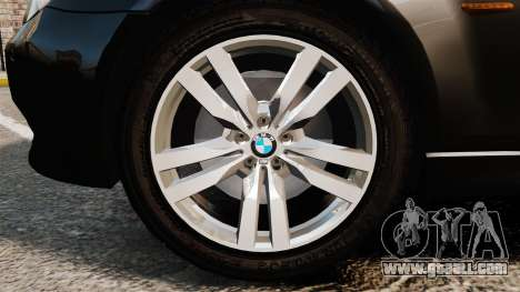 BMW M5 E60 Metropolitan Police Unmarked [ELS] for GTA 4 back view