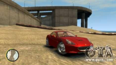 Ferrari California [EPM] for GTA 4 back left view