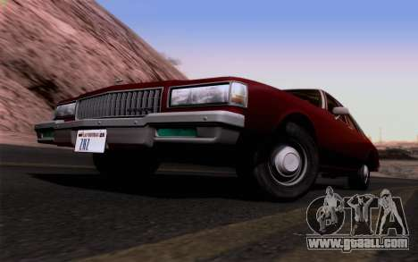 Chevrolet Caprice 1987 for GTA San Andreas inner view