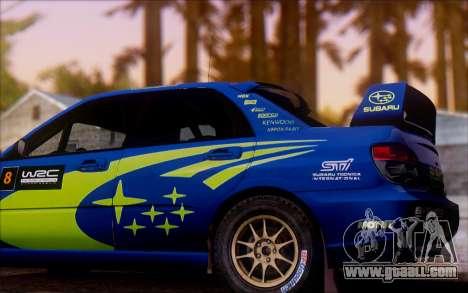 Subaru Impreza WRX STI WRC for GTA San Andreas left view