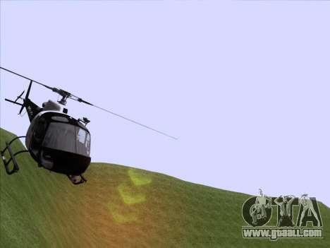 Police Maverick GTA 5 for GTA San Andreas back left view