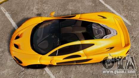 McLaren P1 2013 for GTA 4 right view