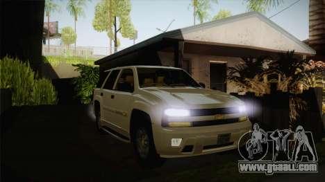 Chevrolet Trail Blazer for GTA San Andreas back view