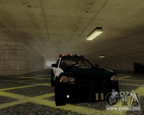 Dodge Charger 2012 Police IVF for GTA San Andreas back view
