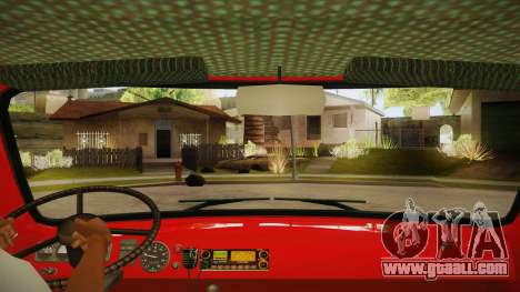 UAZ 452 Fire headquarters for GTA San Andreas inner view