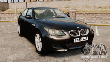 BMW M5 E60 Metropolitan Police Unmarked [ELS] for GTA 4