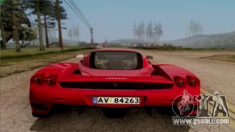 Ferrari Enzo 2002 for GTA San Andreas inner view