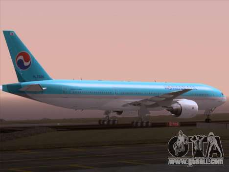 Boeing 777-2B5ER Korean Air for GTA San Andreas upper view