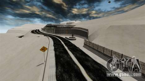 Snowy location Sakina for GTA 4 eighth screenshot