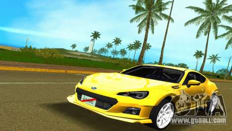 Subaru BRZ Type 5 for GTA Vice City