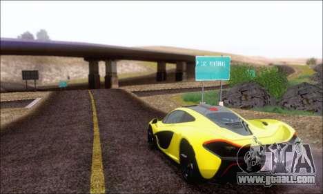 McLaren P1 EPM for GTA San Andreas inner view