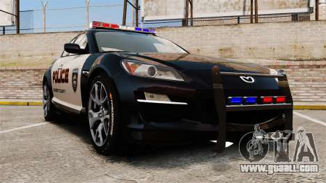 Mazda RX-8 R3 2011 Police for GTA 4