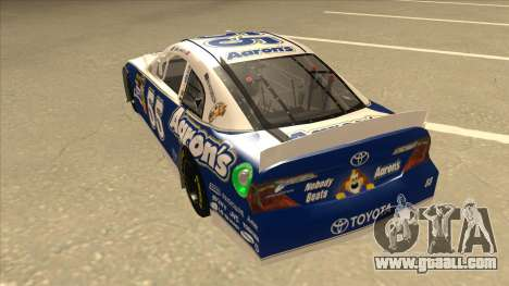 Toyota Camry NASCAR No. 55 Aarons DM blue-white for GTA San Andreas back view