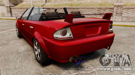 Convertible version of the Premier tuning for GTA 4 back left view