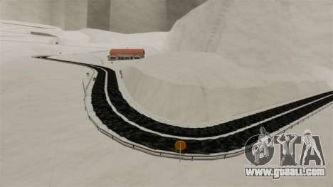 Snowy location Sakina for GTA 4 fifth screenshot