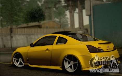 Infiniti G37 IPL for GTA San Andreas wheels