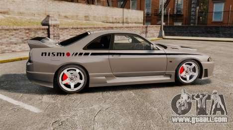 Nissan Skyline R33 NISMO 400R for GTA 4 left view