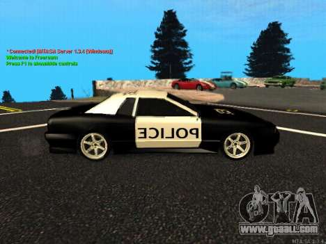 Elegy Police for GTA San Andreas back left view