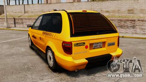 Dodge Grand Caravan 2005 Taxi NYC for GTA 4 back left view