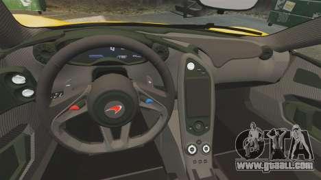 McLaren P1 2013 for GTA 4 inner view