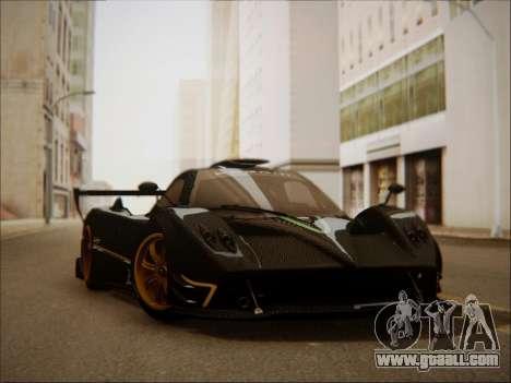 Pagani Zonda R for GTA San Andreas back left view