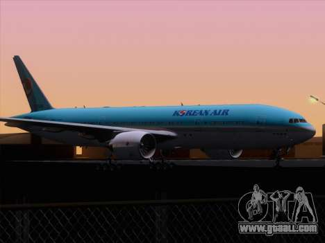 Boeing 777-2B5ER Korean Air for GTA San Andreas bottom view