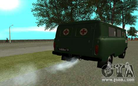 UAZ 452 ambulance for GTA San Andreas back left view