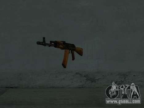 AK-74 for GTA San Andreas second screenshot