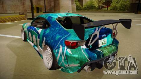 Subaru BRZ for GTA San Andreas back view